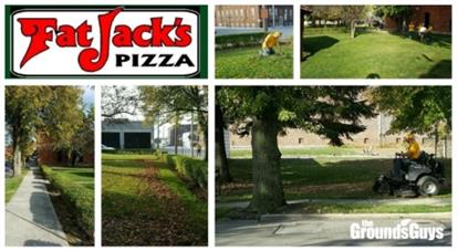 Fat Jack's Pizza Landscaping banner
