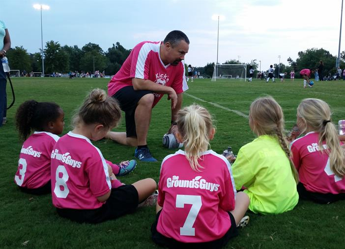 The Grounds Guys sponsored little girl's soccer team