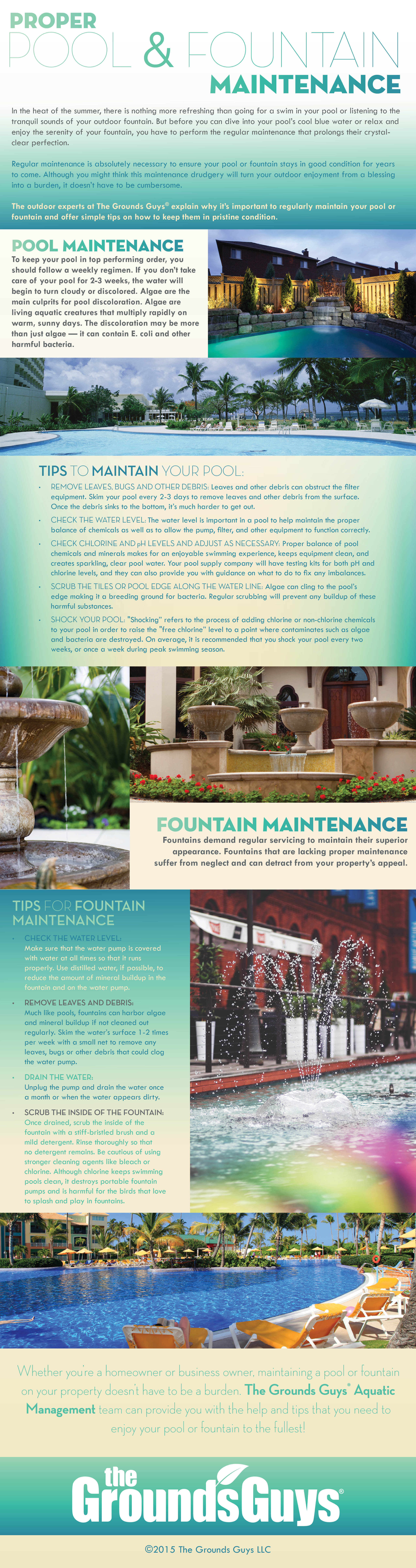 Proper Pool & Fountain Maintenance infographic