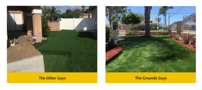 Synthetic turf services comparison between other competitors and The Grounds Guys